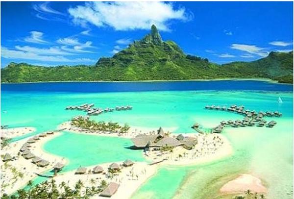 Significado del color aguamarina. Playa de color agua marina