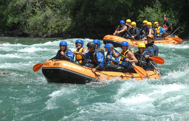 Rafting en España, en el río  Noguera Pallaresa