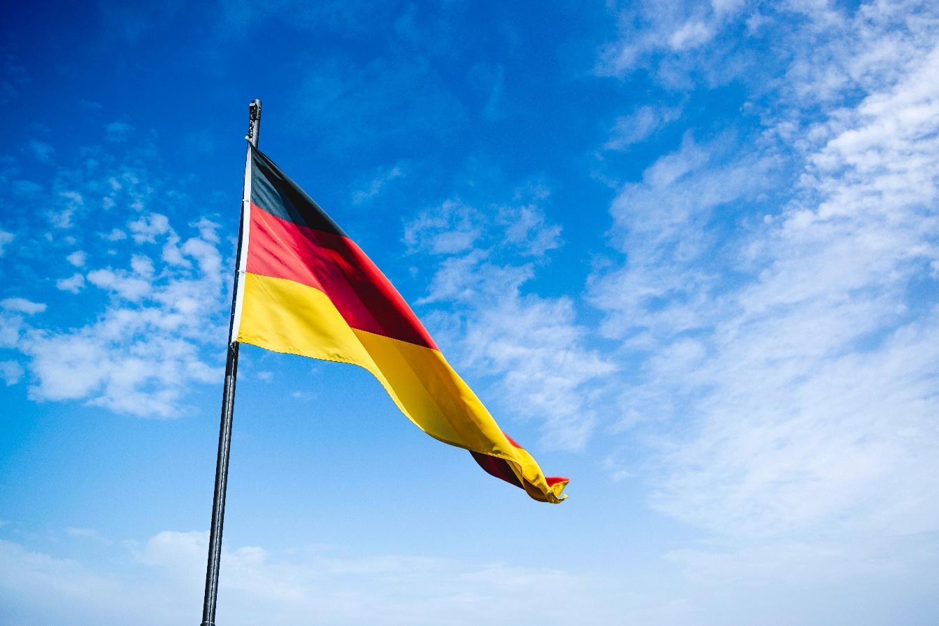 Turismo en Alemania bandera Alemana